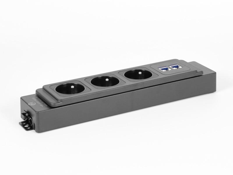 AH Meyer Netbox MSK 3-fach-Steckdose Kabelmanagement verlängerbar